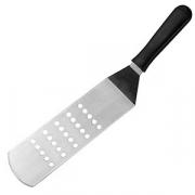 Лопатка изогнут. для гриля перфор. «Проотель», сталь,пластик, L=365,B=75мм, металлич.,черный
