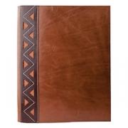 Папка-меню А4 с узором(зажим), кожа, L=33,B=26.5см, коричнев.,тем.корич.