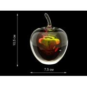 Скульптура для интерьера «яблоко» красно-желтое малое 10,5х7,5 см