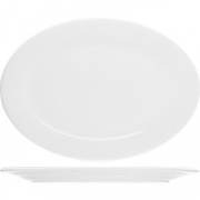 Блюдо овальное «Коллаж» L=35, B=27см; белый