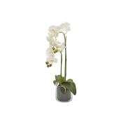 Декор.цветы Орхидея белая в стекл.вазе