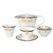 Сервиз чайный 17пр. на 6 персон «Зеленый сад»