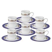 Кофейный набор Флагман : 6 чашек + 6 блюдец