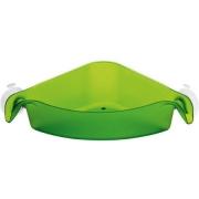 Угловой органайзер/корзина для ванны BOXS Koziol 192 х 192 х 74мм (прозрачный зеленый)