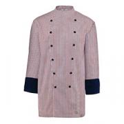 Куртка поварская 58р.клетка, без пуклей, полиэстер,хлопок, красный,синий