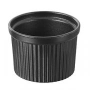 Соусник; фарфор; 250мл; D=90,H=65мм; черный