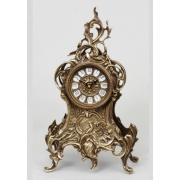 Часы с завитком цвет - каштан 35х18см