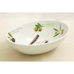 Салатник овальный «Оливки»  25х18 см