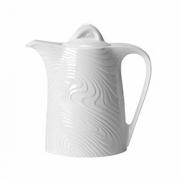 Кофейник «Оптик», фарфор, 350мл, H=40,L=175мм, белый