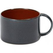 Чашка кофейная D=8, H=5.1см; коричнев. , синий