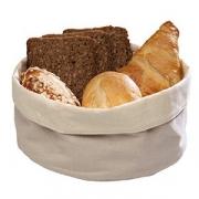 Корзина для хлеба овал. H=9, L=25, B=18см; бежев.