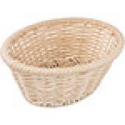 Корзина плетен. для хлеба овал. H=8, L=23, B=18см; бежев.