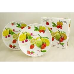 Набор из 4-х тарелок «Фрукт» 20 см
