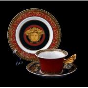 Пара эспрессо «Медуза красная « (чашка090 мл. +блюдце)