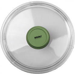 Крышка для сковороды «Д. Грин» D=20см; прозр. , зелен.
