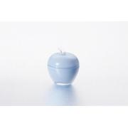 Вазочка с крышкой «Яблоко» 7,5*9 см, цвет: голубой