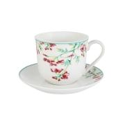 Чашка с блюдцем Цветущий горошек