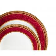 Набор 6 тарелок 27см «Баронесс бургунди»
