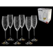 Набор бокалов для шампанского 3 х 2 «Wintime»,«Гранд микс»