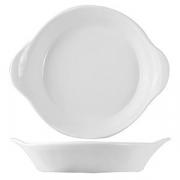 Сковорода порц. «Кунстверк», фарфор, 500мл, D=225,H=30,L=228мм, белый