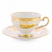 Набор чайный на 6 перс. 12 пред. подарочный «Кленовый лист белый»
