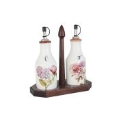 Набор из 2-х бутылок для масла и уксуса на подставке Сады Флоренции
