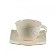 Чашка чайная с квадратным блюдцем «Спирит»