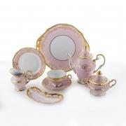 Сервиз чайный 210мл.на 6перс.23пред «Ювел розовый»