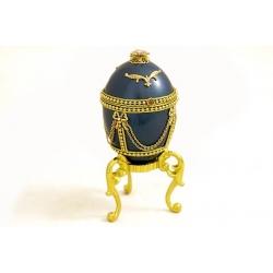 Декоративная шкатулка (синяя)