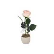 Декоративные цветы Роза св.розовая в керамической вазе
