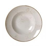 Тарелка для пасты «Крафт», фарфор, 320мл, D=27см, белый