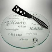 Набор для сыра 2 пр доска круглая нож