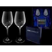 Набор бокалов для вина (2 шт) Пружинка с кристаллами