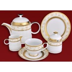 Чайный сервиз «Золотая роза» на 6 персон 21 предмет