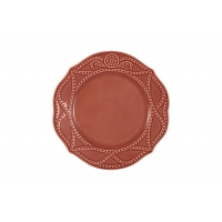 Тарелка закусочная Villa (красная) без инд.упаковки