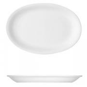 Блюдо овальное «Бонн», фарфор, L=32.3,B=22.8см, белый