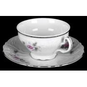 Набор для чая на 6 перс. 12 пред. низ. н/н «Роза серая платина 5396021»