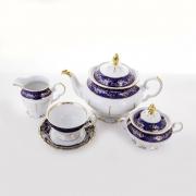 Сервиз чайный «Борокко кобальт Форма Фредерика» на 6перс, 15пр.