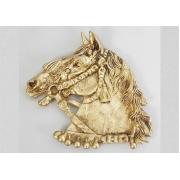 Пепельница «лошадь» цвет - золото 17х20см