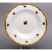 Набор глубоких тарелок 24 см. 6 шт. «Роза золотая»
