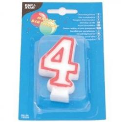 Свеча-цифра 4, ко дню рождения
