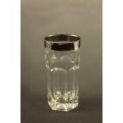 Набор стаканов вода платина с черн. 6 шт