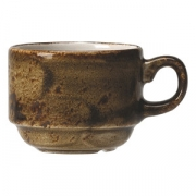 Чашка кофейная «Крафт», фарфор, 100мл, D=65,H=50,L=85мм, коричнев.