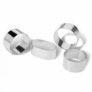 Кольцо кондитерское, сталь нерж., D=65,H=30мм, металлич.