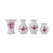 Набор вазочек 4шт «Бельведер Роза 101»