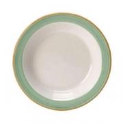 Тарелочка для масла «Рио Грин», фарфор, D=11,H=2см, белый,зелен.
