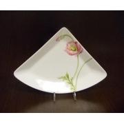 Блюдо треугольное M «Розовый мак»