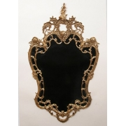 Зеркало с цветами золотистый 105х60 см.