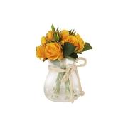 Декоративные цветы Розы жёлтые в стекл вазе