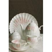 Сервиз чайный 17 предметов на 6 персон (чайник, сливочник, сахарница, 2 крышки, 6 чайных пар) «Орхидея»